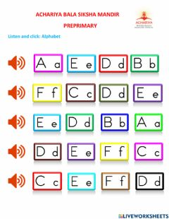 Interactive worksheet Listen and click