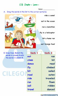 Interactive worksheet C4B - Chapter 9: Lesson 5