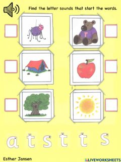 Ficha interactiva Find the letter sounds that start the words
