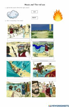 Interactive worksheet Moses and the red sea