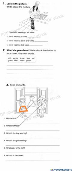 Interactive worksheet Unit 5 - our world - clothes and seasons