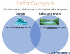 Interactive worksheet Comparatives Adjectives Ecosystems