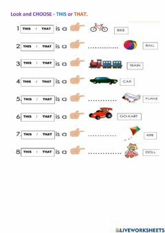 Interactive worksheet This that
