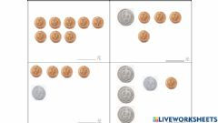 Interactive worksheet Money counting