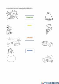 Interactive worksheet Le stagioni