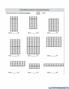 Interactive worksheet Tile Rectangles to Find Area 1