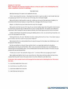 Interactive worksheet BES-RL 4.4 Exit Ticket