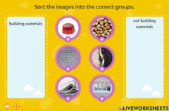 Interactive worksheet Homes and Buildings