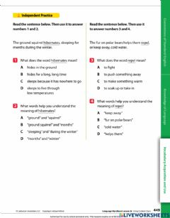 Interactive worksheet Context clues 2