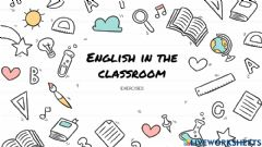 Interactive worksheet English in the classroom + prepositions of place