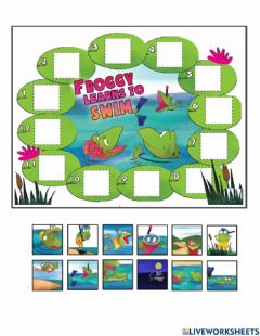 Interactive worksheet Froggy Learns to Swim