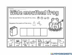 Interactive worksheet Wide Mouthed Frog
