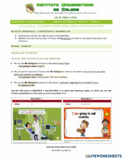 Interactive worksheet Future - Be going to