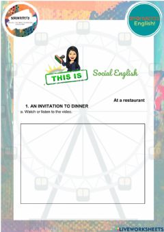 Interactive worksheet Practical English, at a restaurant, unit 9, elementary
