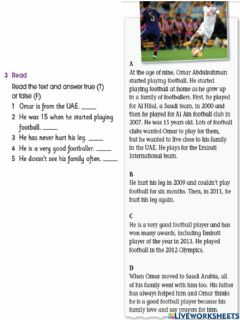 Interactive worksheet Red group-unit 10 lesson 4