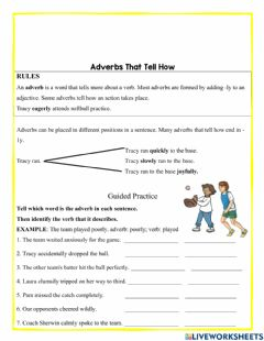 Ficha interactiva Adverbs that that tell