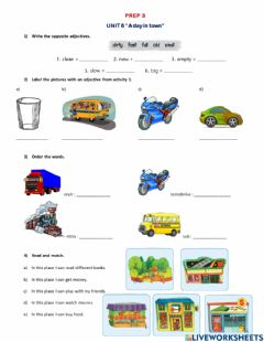 Interactive worksheet Prep 3 Lessons 1,2 and 3