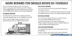 Interactive worksheet Home repairs you should never do yourself