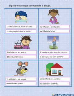 Interactive worksheet Verbos: palabras de acción