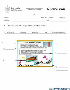 Interactive worksheet April Quiz - Third Grade - Instructions Manual to make an Object