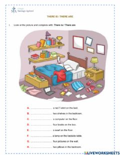 Interactive worksheet There is - There are
