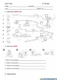 Interactive worksheet Unit 5 test