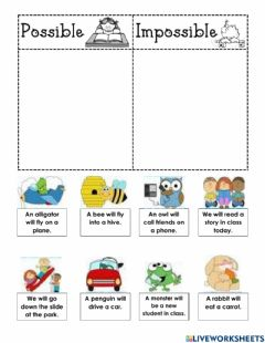 Interactive worksheet Possible or Impossible