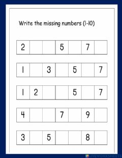 Interactive worksheet Next,before and in between
