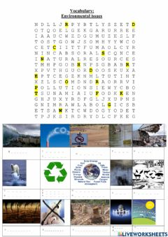 Interactive worksheet Environmental issues vocabulary