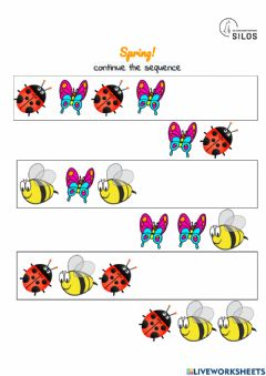 Interactive worksheet SPRING SEQUENCE