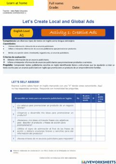 Interactive worksheet Let-s create Local and Global Ads  A1 - EDA2