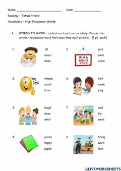 Interactive worksheet Reading Instructional Skills