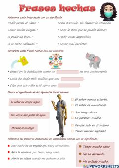 Interactive worksheet Frases Hechas