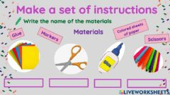 Interactive worksheet Mother's day card
