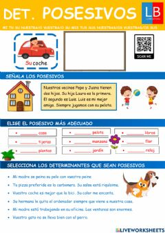 Interactive worksheet Determinantes posesivos