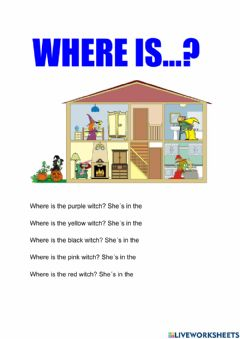 Interactive worksheet Where is the witch