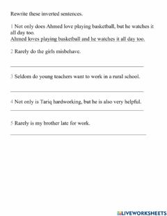 Interactive worksheet 10A Unit 9 Lessons 3-4