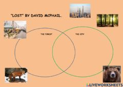 Ficha interactiva Lost by david mcphail