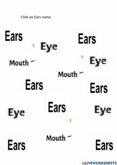 Interactive worksheet Click on ears