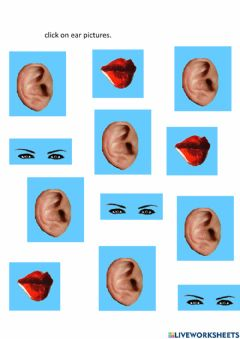 Interactive worksheet Click on ears pictures