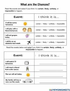 Interactive worksheet What are the Chances?