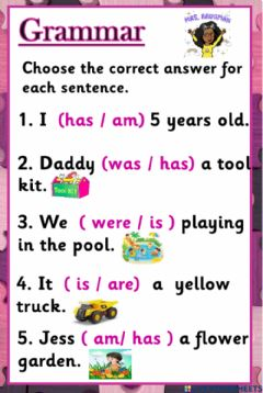 Interactive worksheet Reviewing the verb to be