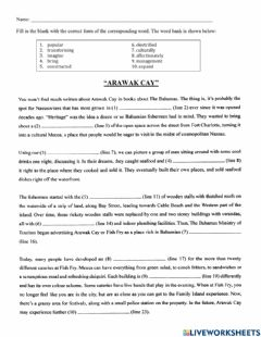 Interactive worksheet Related Words