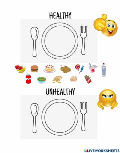 Interactive worksheet Healthy or Unhealthy?