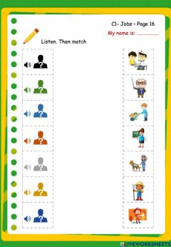 Interactive worksheet PSE.C1.P16.Where does he work?