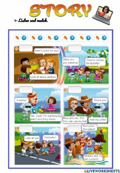 Interactive worksheet Share things