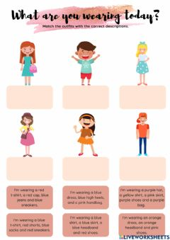 Interactive worksheet What are you wearing today?