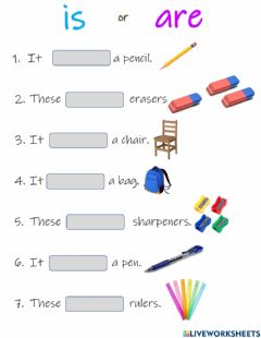 Interactive worksheet Is or are