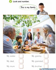 Interactive worksheet My family 2