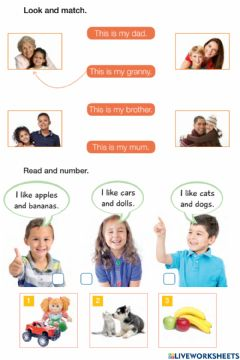 Interactive worksheet My family 3